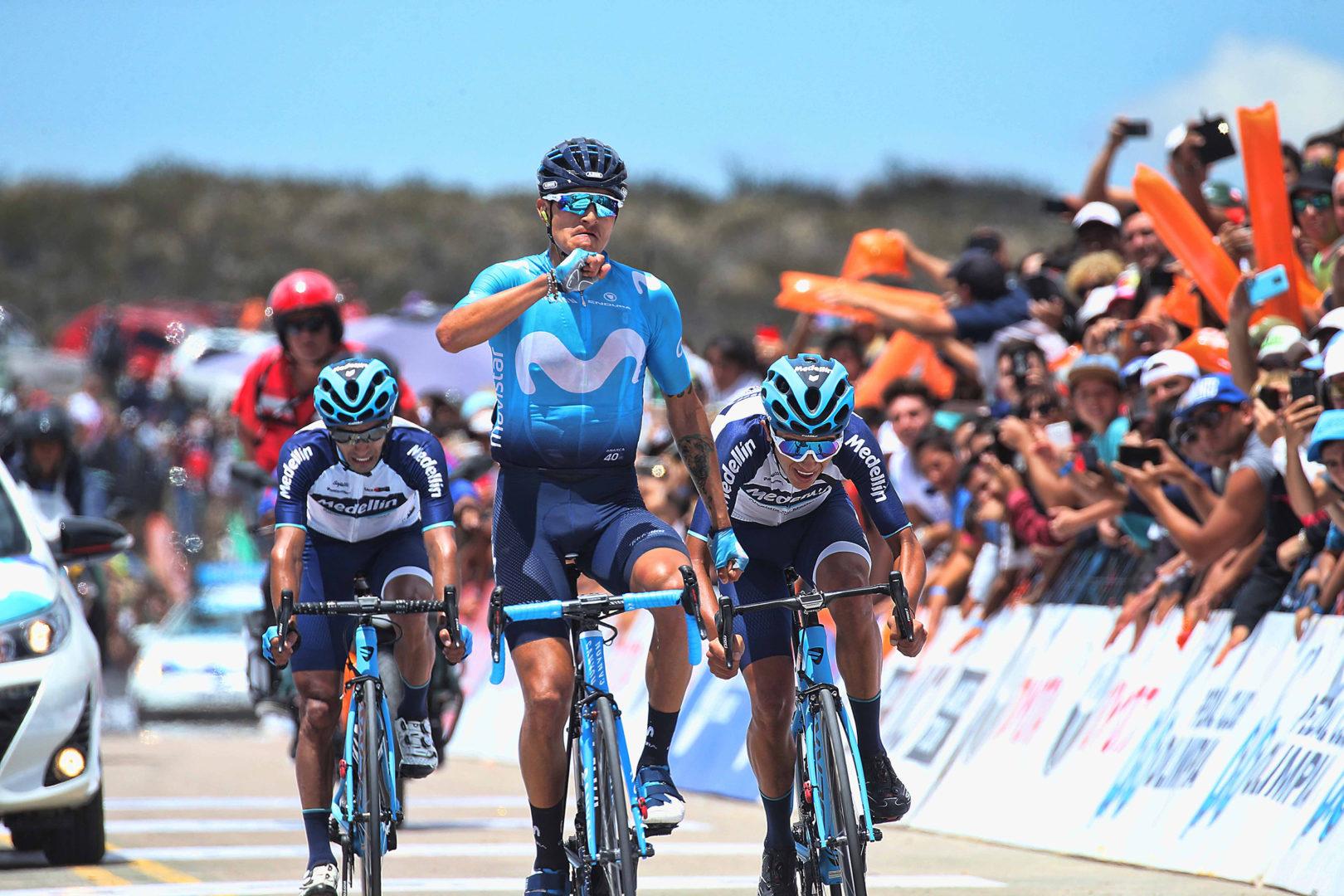 Vuelta a San Juan 2019 - 37th Edition - 5th stage San Martin - Alto Colorado 169.5 km - 01/02/2019 - Winner Anacona (COL - Movistar Team) - photo Ilario Biondi/BettiniPhoto©2019