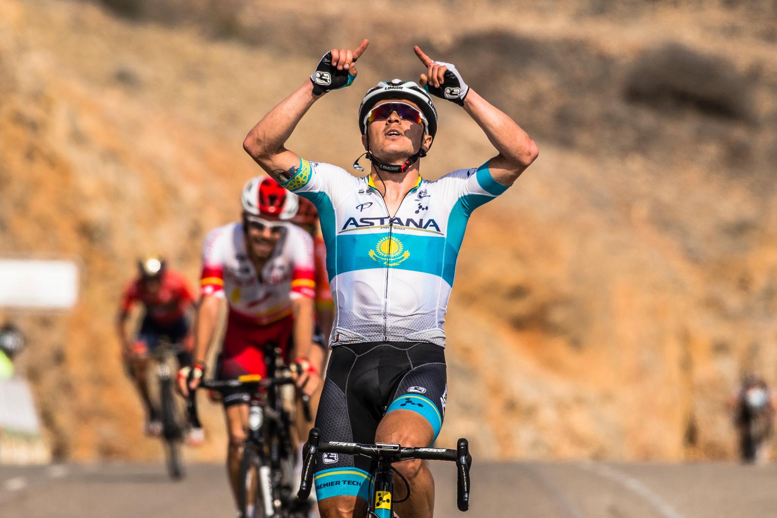 18/02/2019 - Tour of Oman - Stage 2 - Shati Al Qurum - Qurayyat - Alexey Lutsenko (Astana Pro Team). Credit: ASO/Kare Dehlie Thorstad