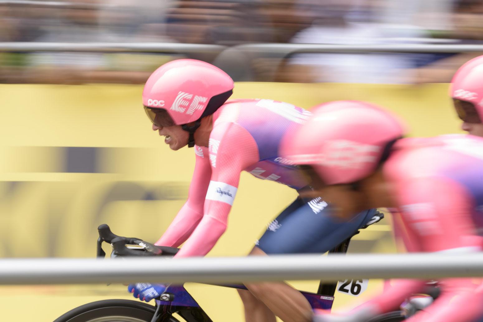 Rigoberto Urán se convirtió en el primer líder del Tour de Colombia 2019 (Foto: EF).