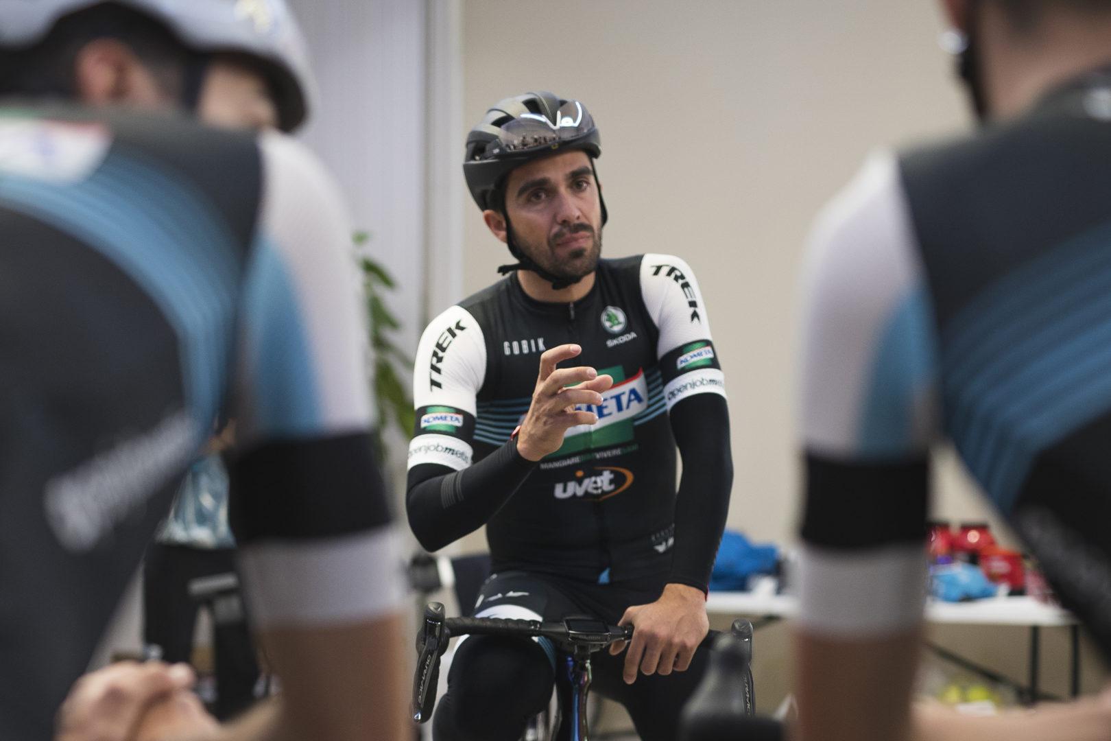 Alberto Contador con el maillot del Kometa
