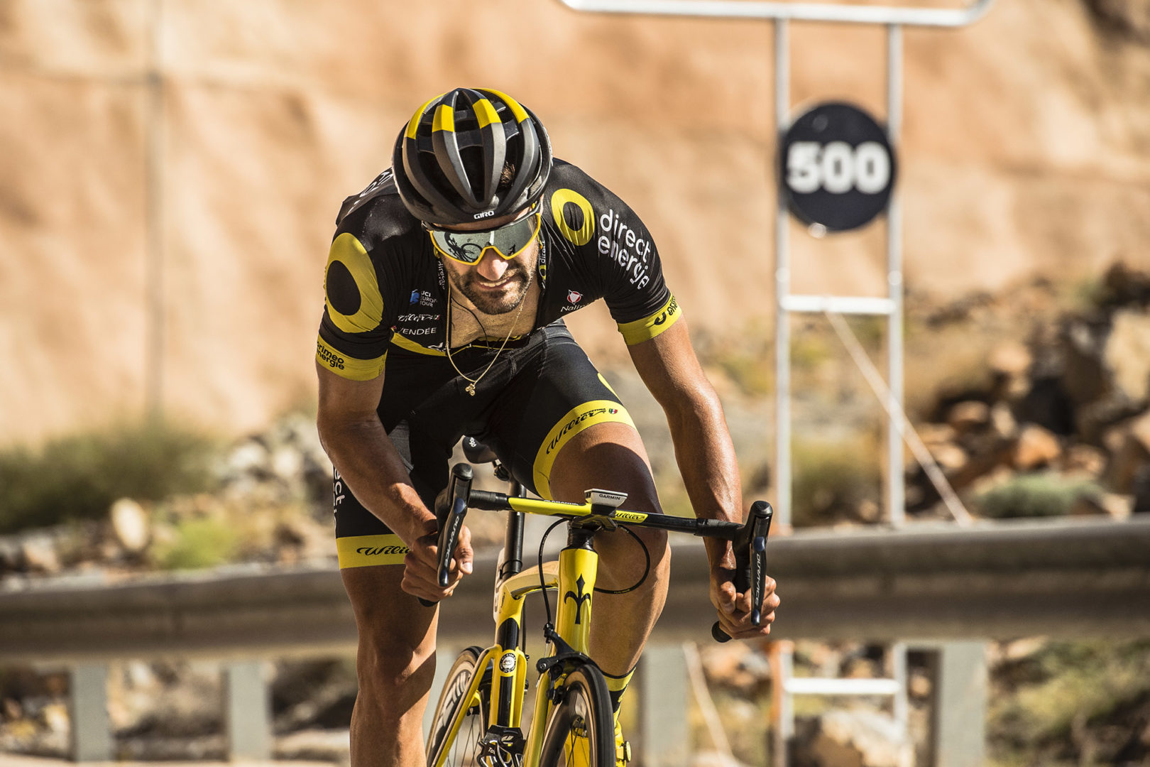 20/02/2019 - Tour of Oman - Stage 5 - Samayil - Jabal Al Akhdhar (Green Mountain) - Fabien Grellier (Direct Energie). Credit: ASO/Kare Dehlie Thorstad