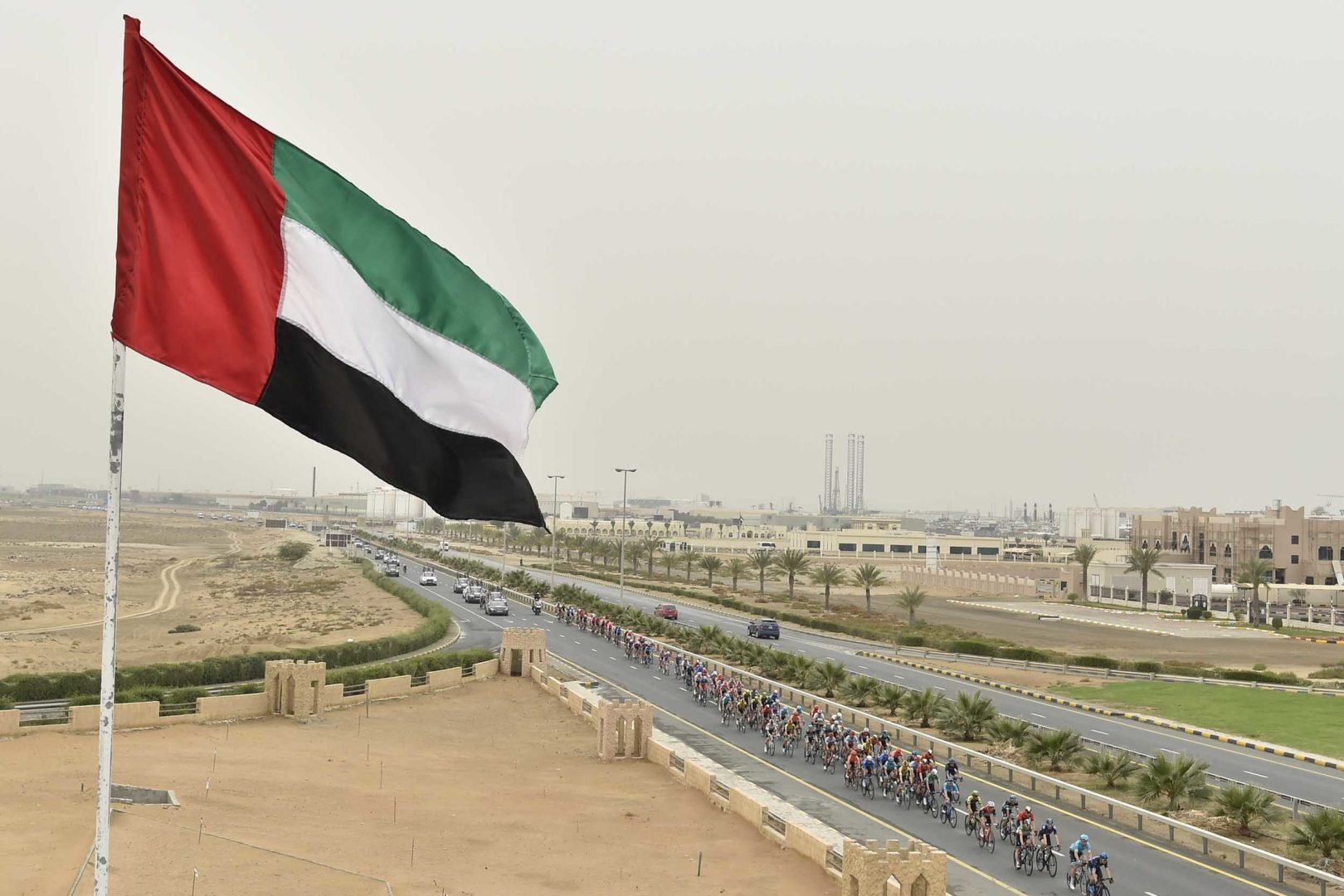 Foto LaPresse - Fabio Ferrari 01 Marzo 2019 Dubai (Emirati Arabi Uniti) Sport Ciclismo UAE Tour 2019 - Tappa 6 - da Ajman a Jebel Jais - 180 km Nella foto: durante la tappa.Photo LaPresse - Fabio Ferrari March 01, 2019 Dubai (United Arab Emirates) Sport Cycling UAE Tour 2019 - Stage 6 - From Ajman To Jebel Jais  - 112 miles. In the pic: during the race.