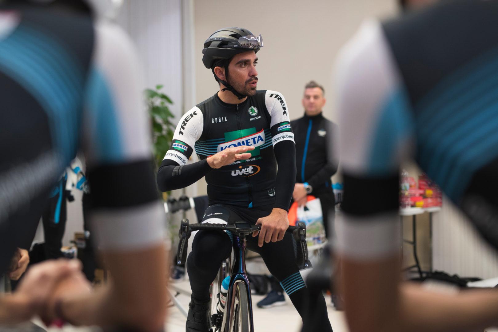Alberto Contador con el maillot del Kometa (Foto: Kometa).