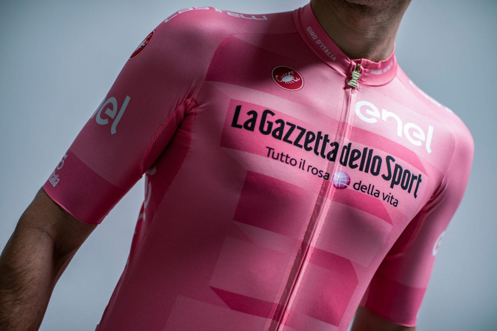 Maillot rosa del Giro de Italia 2019.