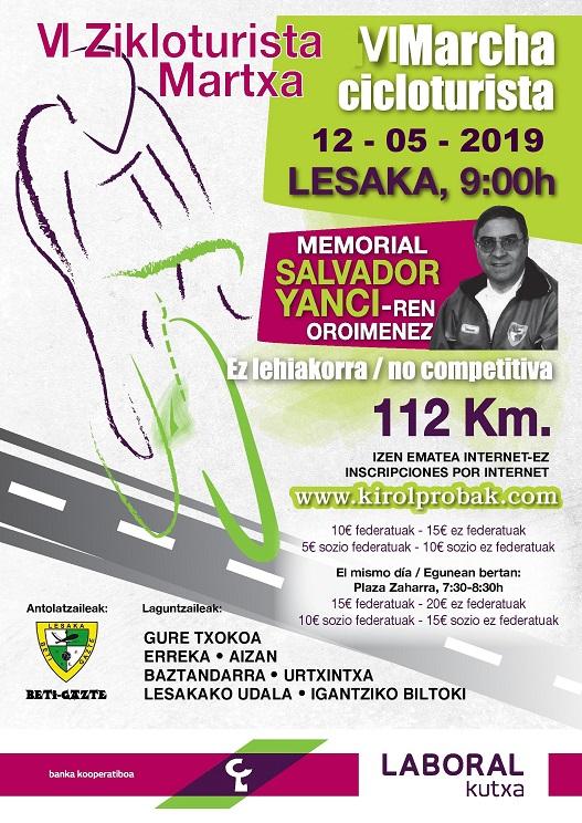Cartel Memorial Salvador Yanci 2019