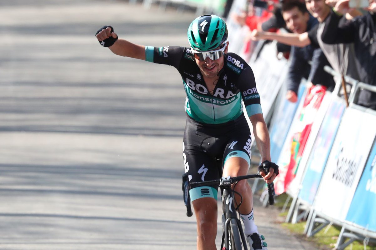 Exhibición de Buchmann en la etapa reina de la Vuelta al País Vasco