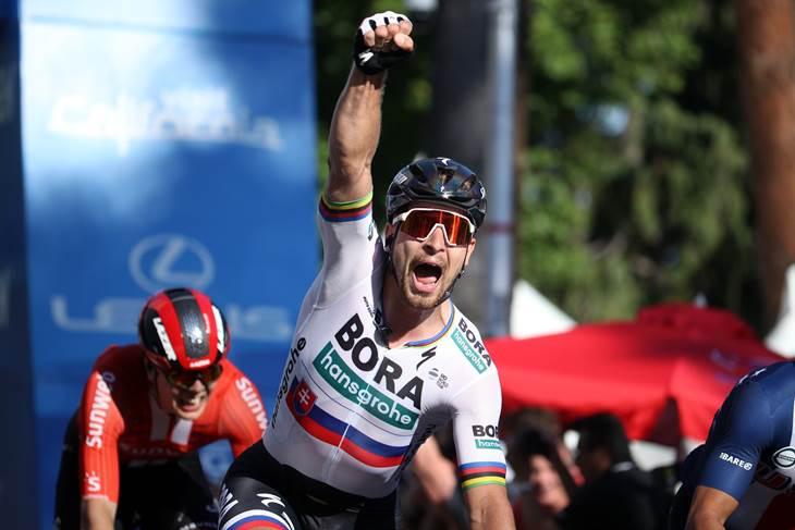 Sagan conquistó la primera etapa del Tour de California.