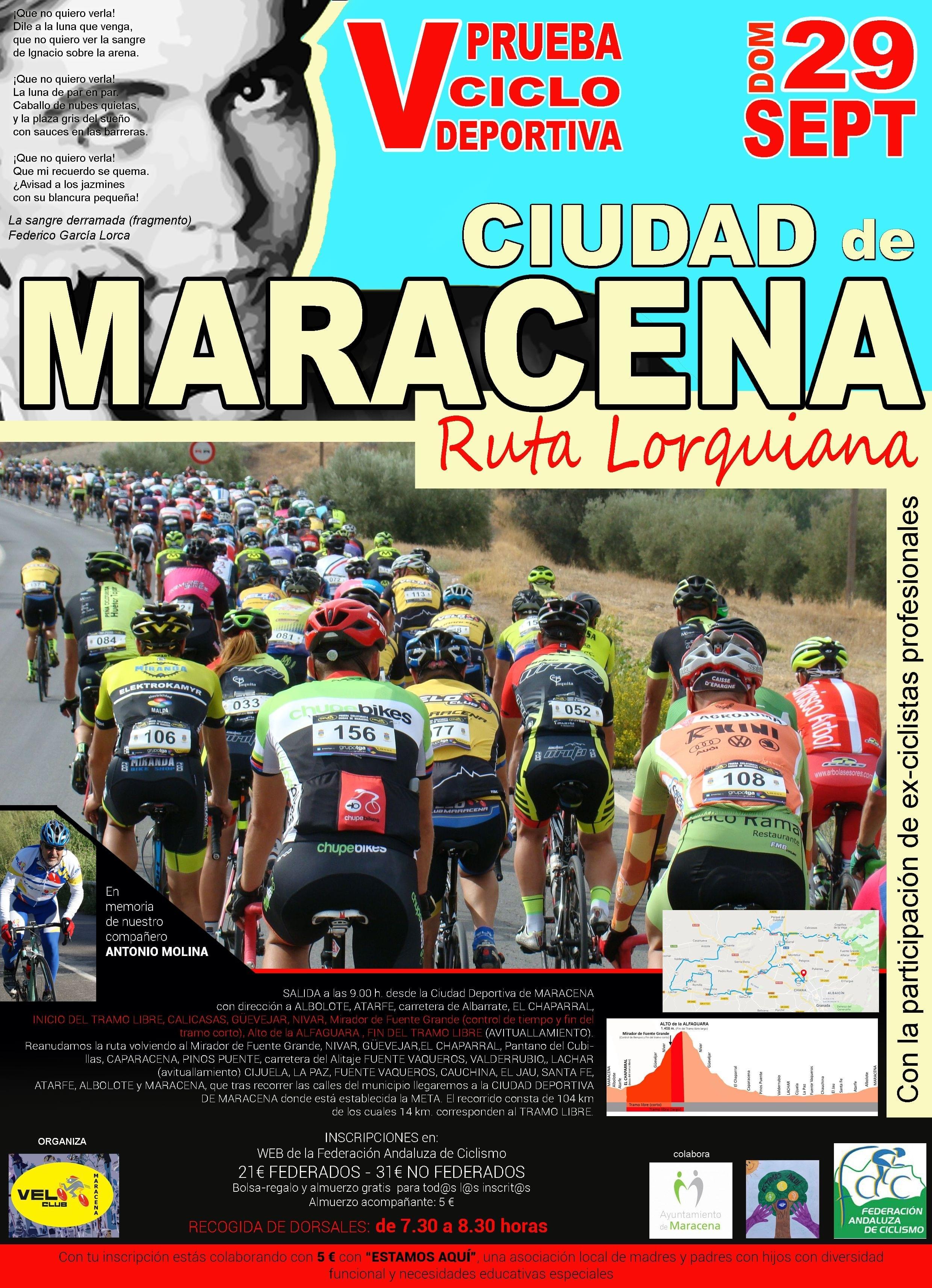 Cartel Ciclodeportiva Ciudad de Maracena.