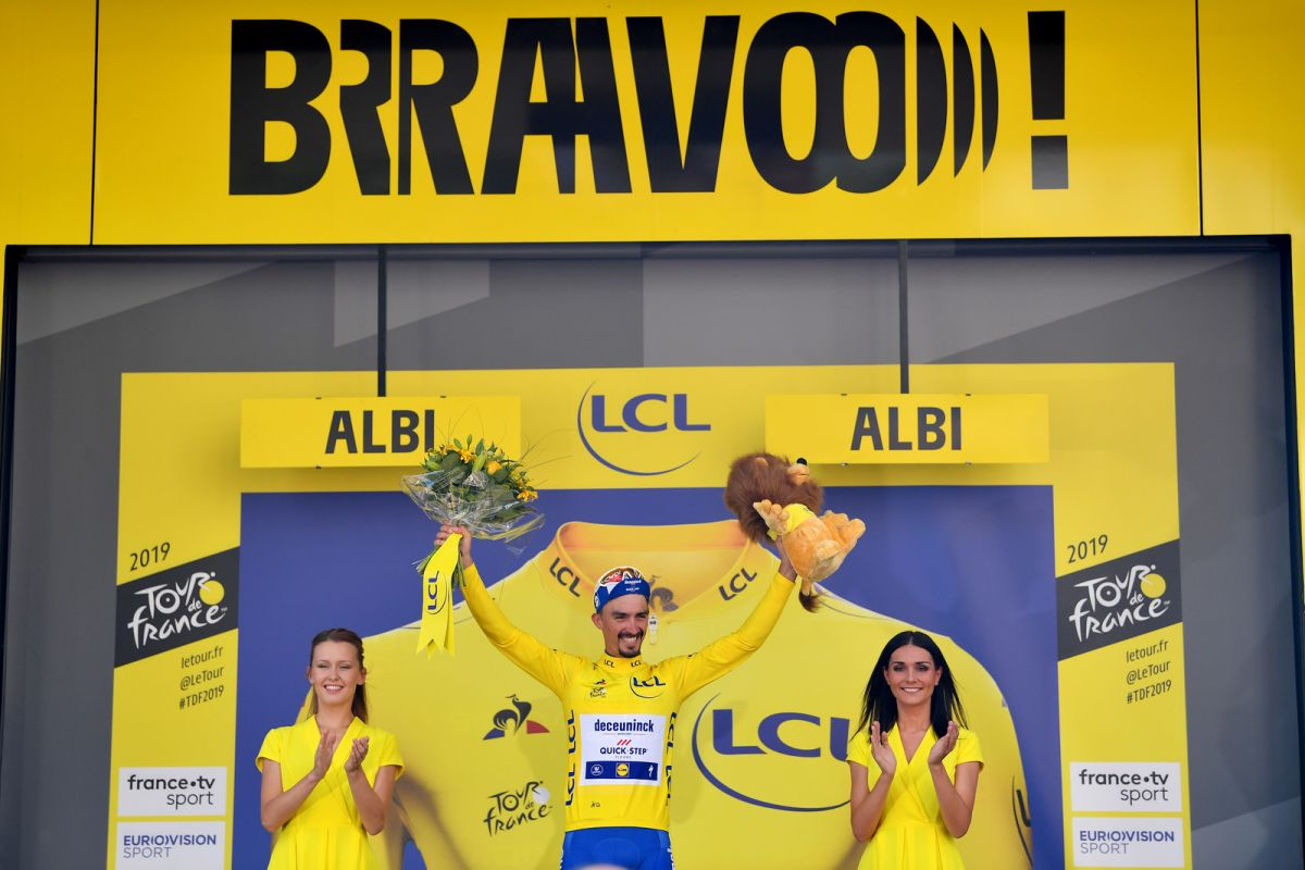 ulian Alaphilippe Yellow Jersey TdF Stage 10