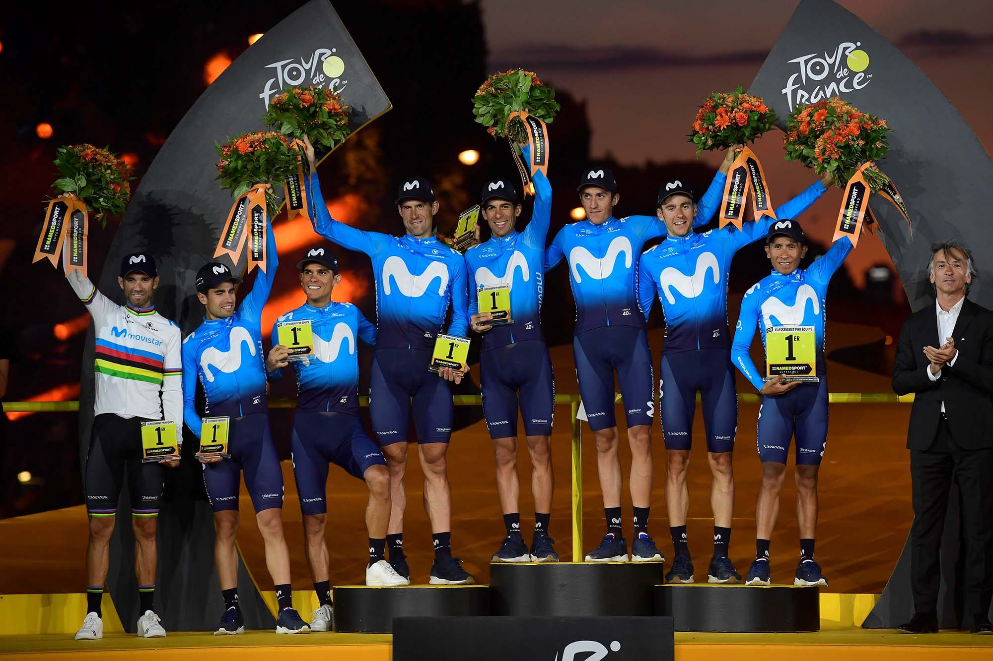 Tour de France 2019 - 106th Edition - 21th stage Rambouillet - Paris 127 km - 28/07/2019 - Movistar Team - photo Nico Vereecken/PN/BettiniPhoto©2019