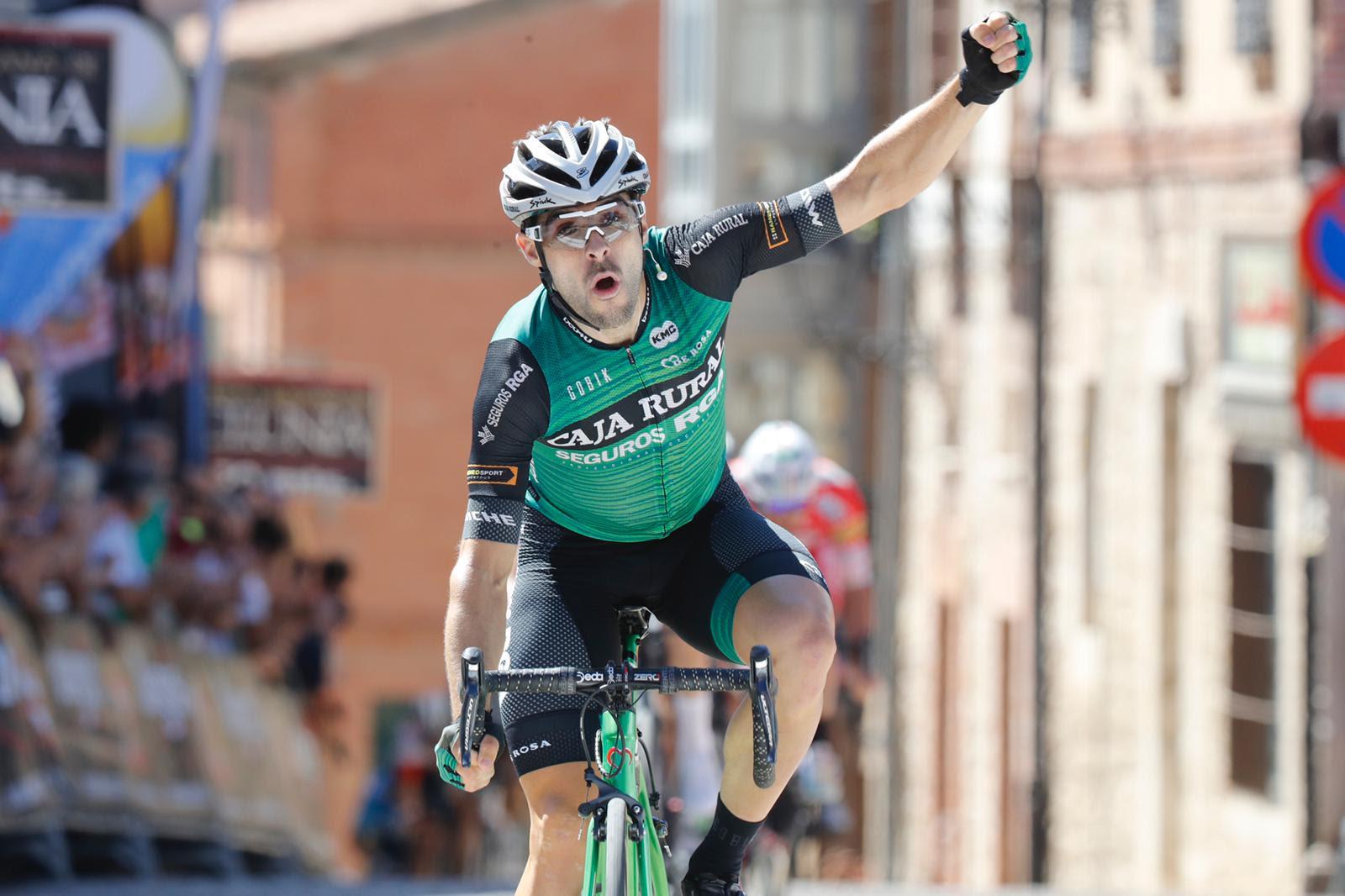 Jon Aberasturi ganó la segunda etapa de la Vuelta a Burgos.
