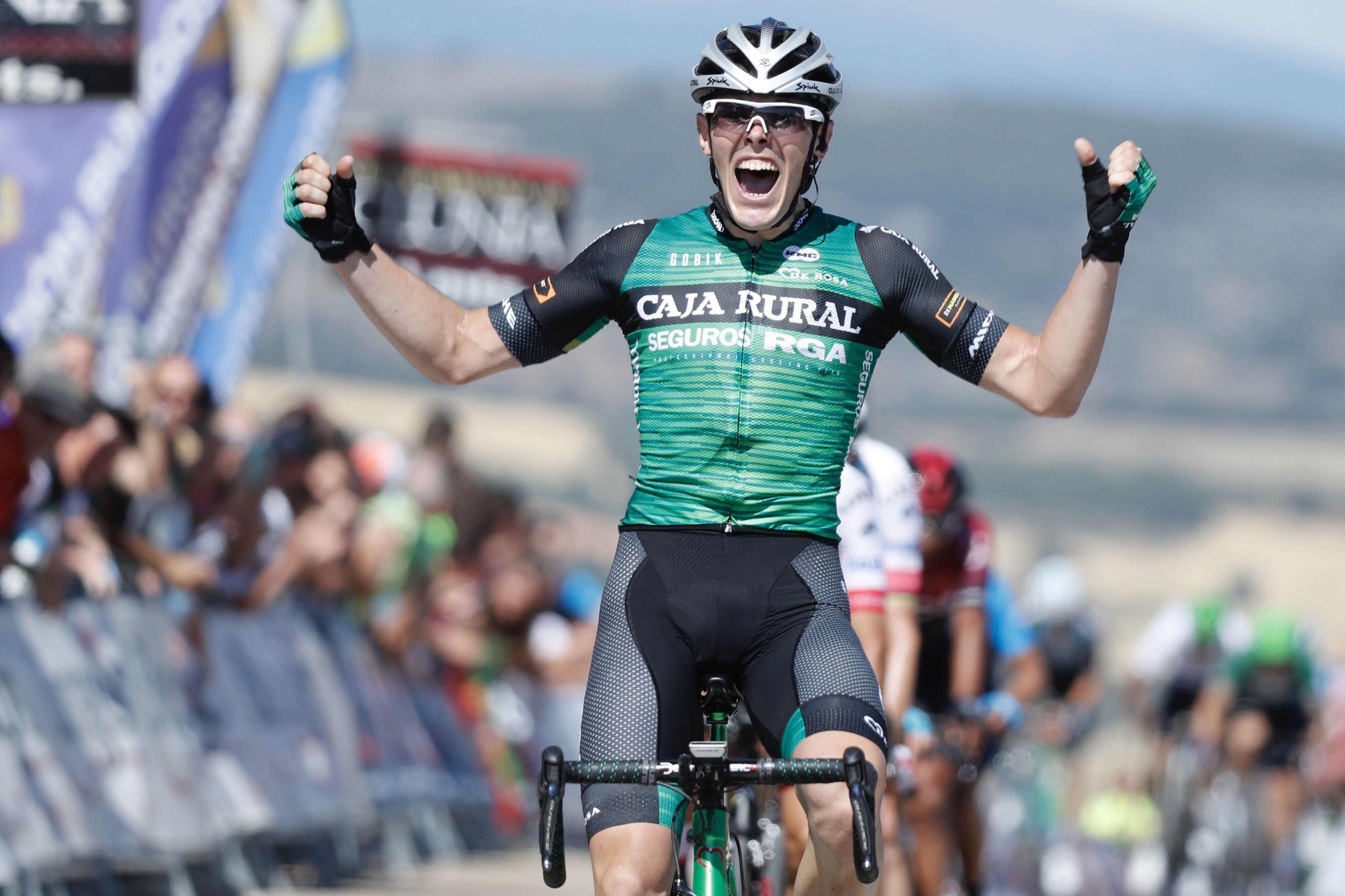 Alex Aranburu se impone en la cuarta etapa de la Vuelta a Burgos.