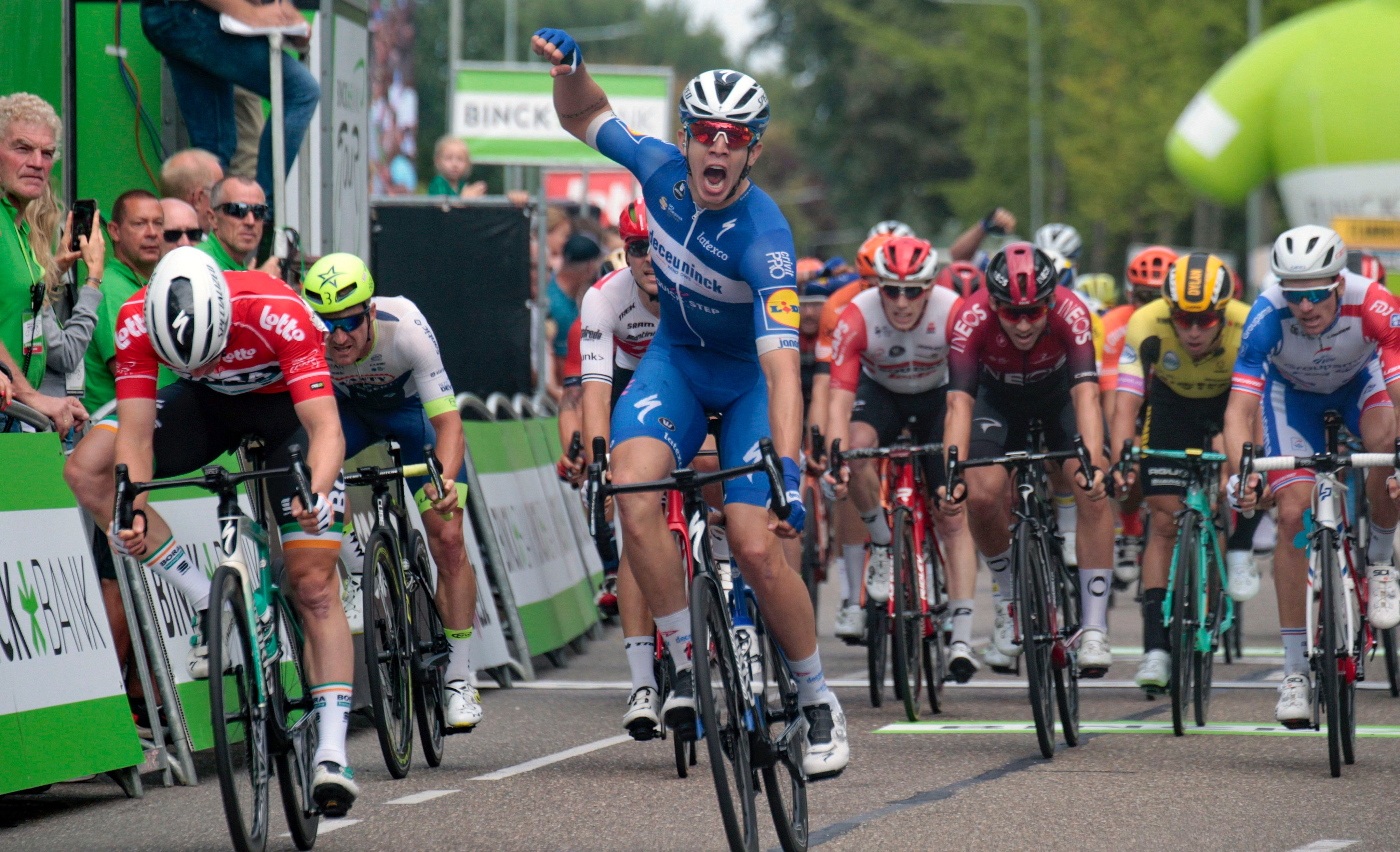 Álvaro Hodeg ganó la quinta etapa del Binck Bank Tour.