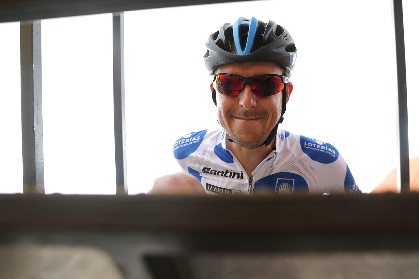 Cycling: Vuelta España 2019 / Tour of Spain 2019/ La Vuelta/ Etapa 16/ Stage 16/ CONTROL DE FIRMAS/ MAILLOT MONTAÑA/ MOUNTAIN JERSEY / MADRAZO RUIZ Angel (ESP)Pravia - Alto de La Cubilla. Lena (144,4 km) 09-09-2019/Vuelta España 2019 / La Vuelta/ Tour of Spain 2019/Luis Angel Gomez ©PHOTOGOMEZSPORT2019