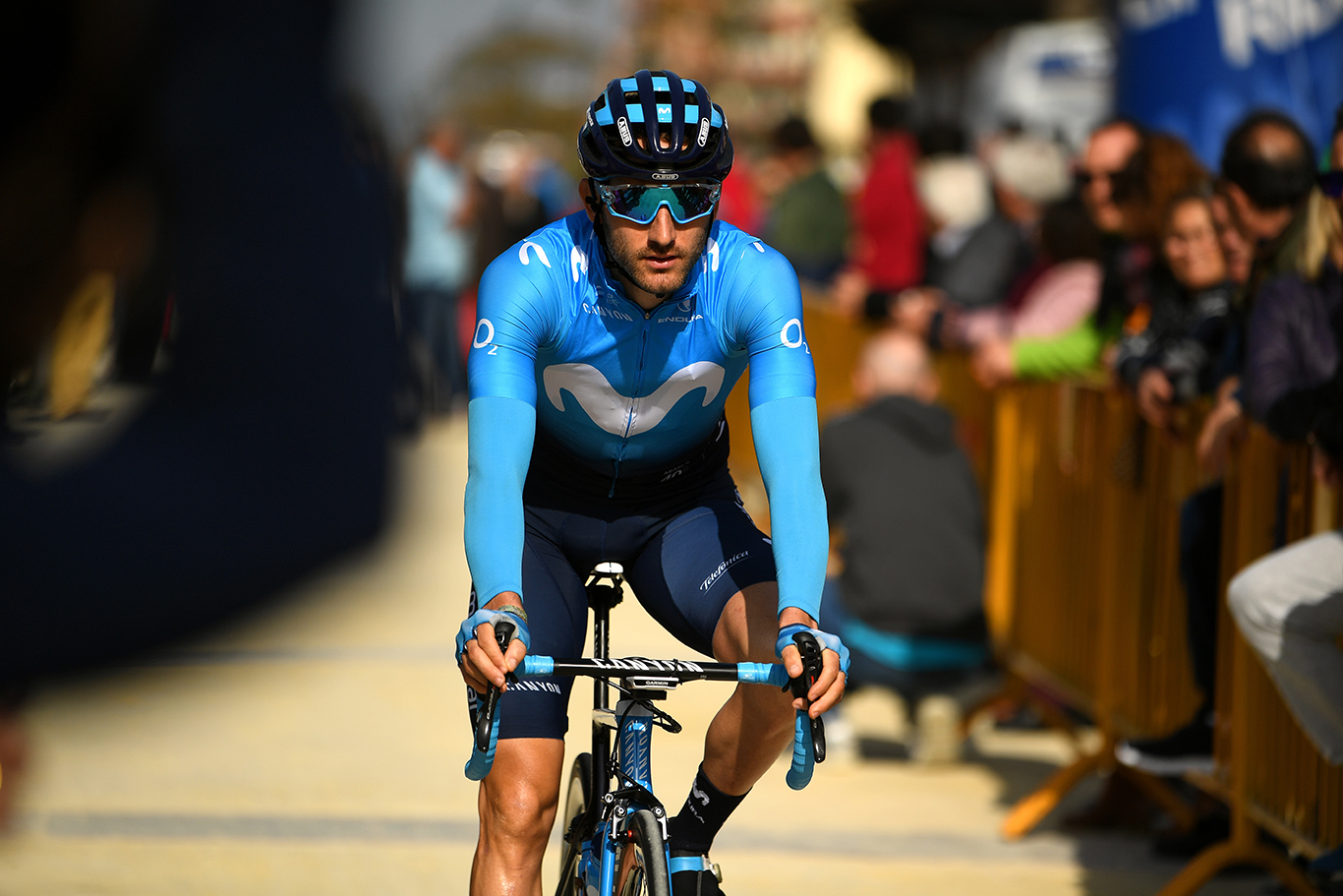 ALCALÁ DE LOS GAZULES, SPAIN - FEBRUARY 20: Start / Carlos Barbero of Spain and Movistar Team / during the 65th Ruta del Sol 2019, Stage 1 a 170,5km stage from Sanlúcar de Barrameda to Alcalá de los Gazules 213m / RDS / @VCANDALUCIA / #vueltaciclistaandalucia2019 / on February 20, 2019 in Alcalá de los Gazules, Spain. (Photo by David Ramos/Getty Images)