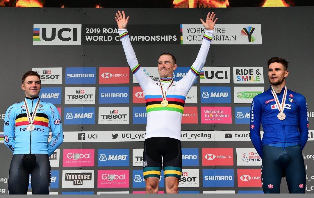 Rohan Dennis arrasa en la contrarreloj y revalida el título Mundial en Yorkshire