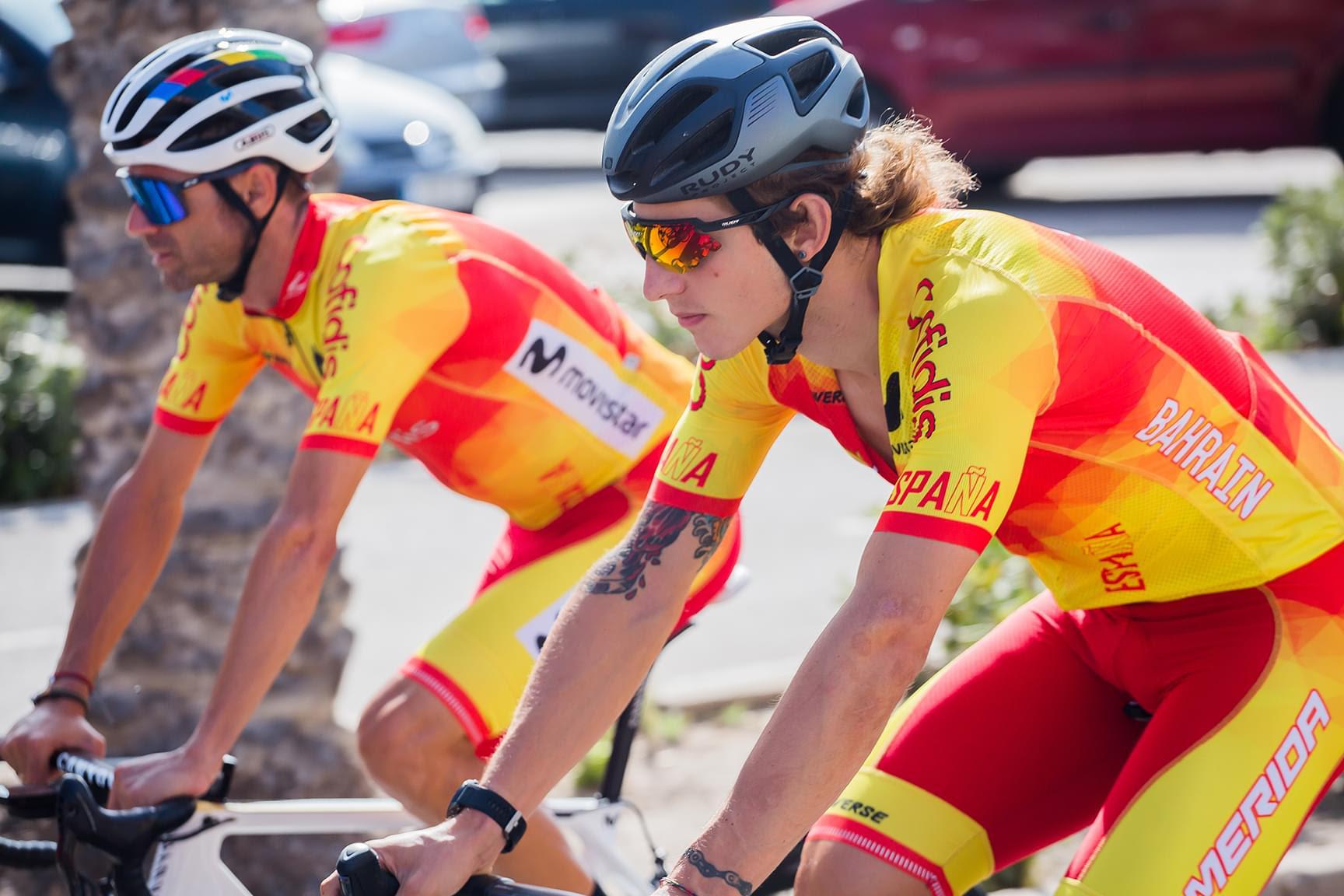 Valverde y Cortina, con la selección.