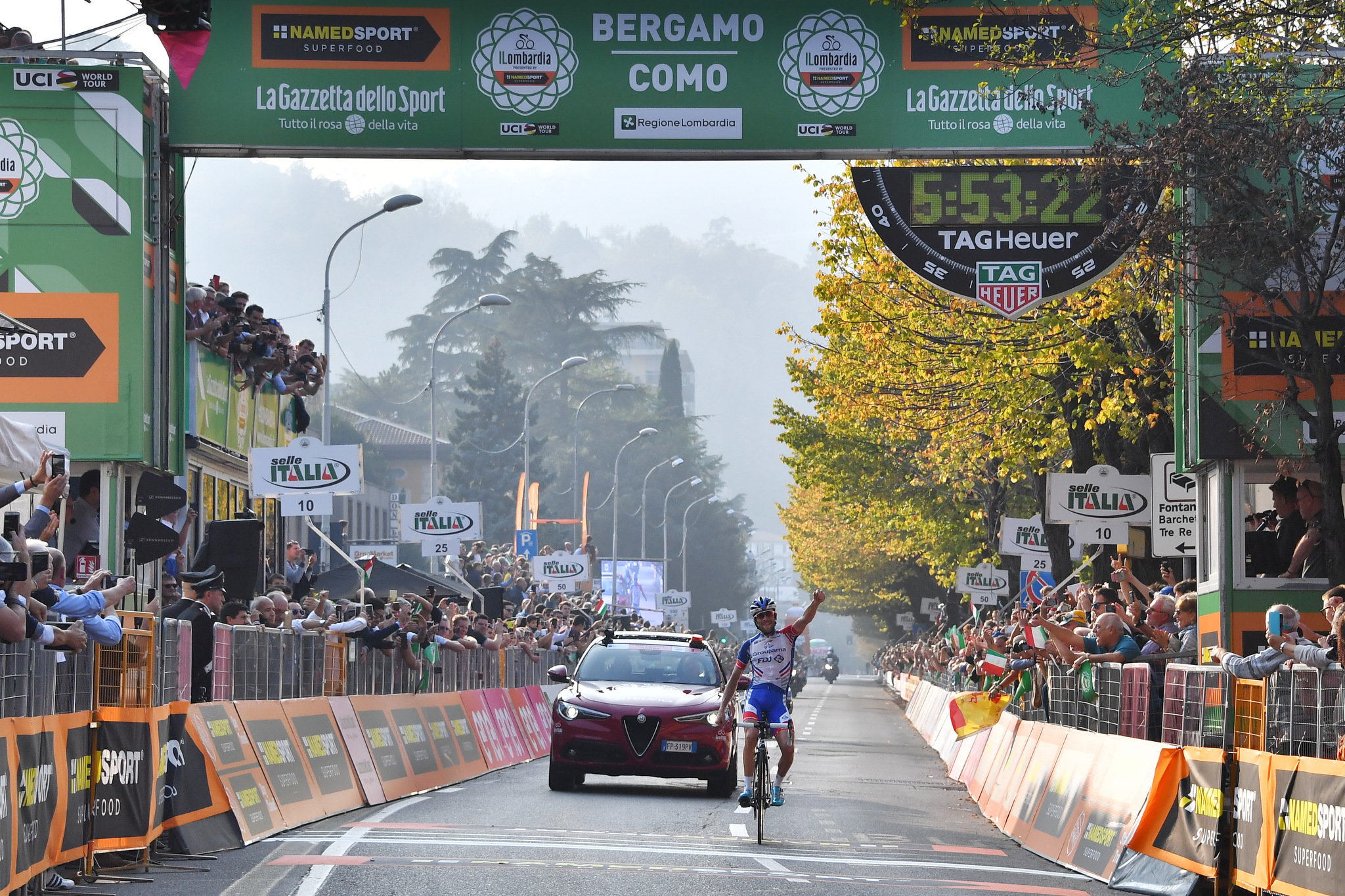 Pinot ganó el Giro de Lombardía 2018.