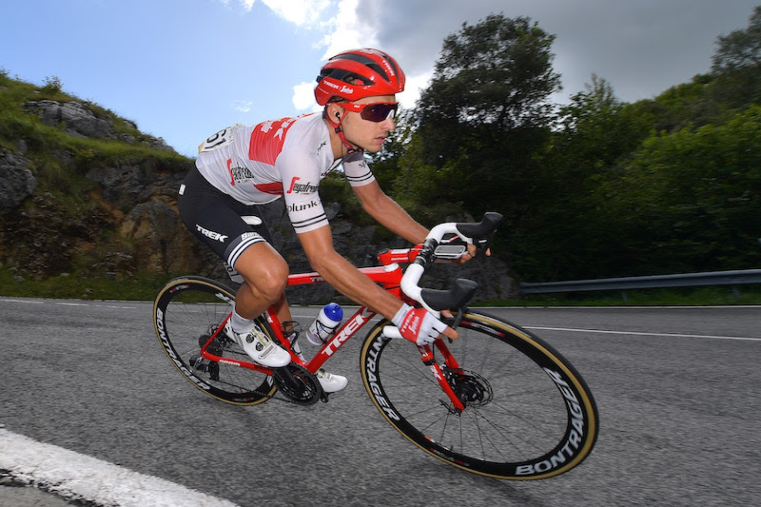 LOS MACHUCOS, SPAIN - SEPTEMBER 06: Gianluca Brambilla of Italy and Team Trek-Segafredo / during the 74th Tour of Spain 2019, Stage 13 a 166,4km stage from Bilbao to Alto de Los Machucos - Monumento Vaca Pasiega 880m / #LaVuelta19 / @lavuelta / on September 06, 2019 in Los Machucos. Monumento Vaca Pasiega, Spain. (Photo by Justin Setterfield/Getty Images)