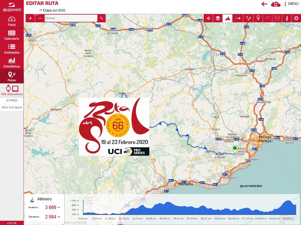 Sigma Sport, colaborador tecnológico de la Vuelta a Andalucía 2020