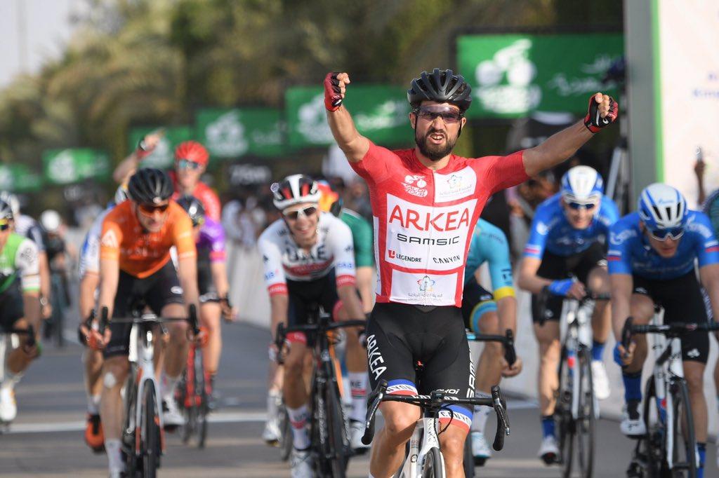 Nacer Bouhanni se impuso en la cuarta etapa del Tour de Arabia Saudí.