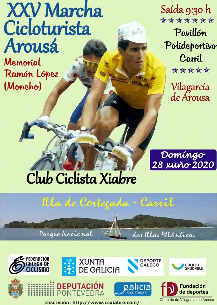Cartel Marcha Cicloturista Arousá 2020
