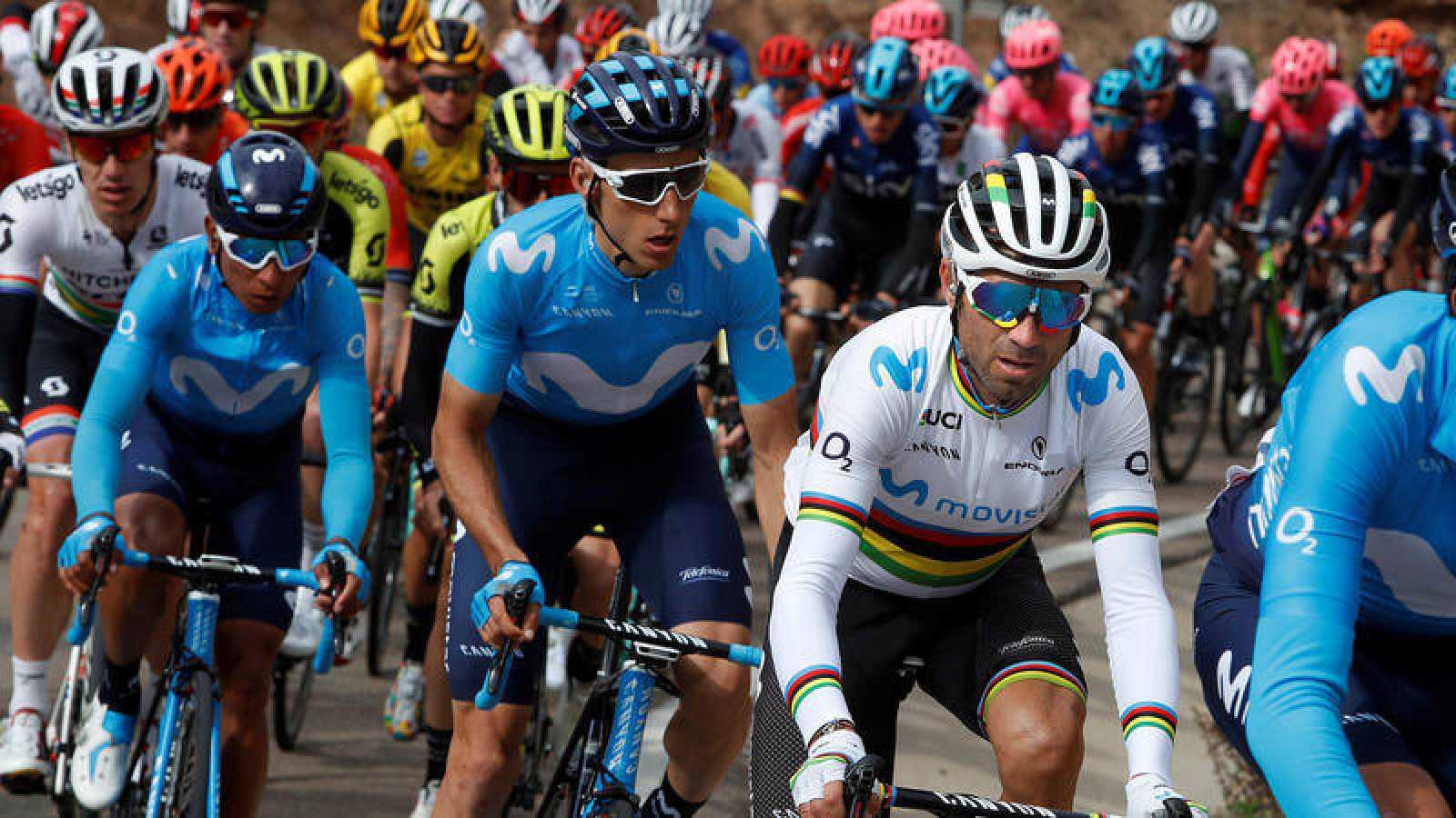 Valverde junto a Carlos Verona y Nairo Quintana