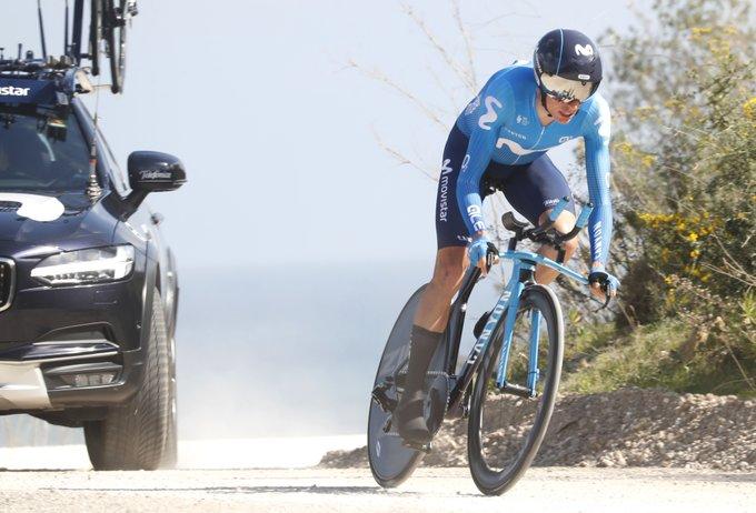 Enric Mas en la contrarreloj de la Vuelta a Andalucía.