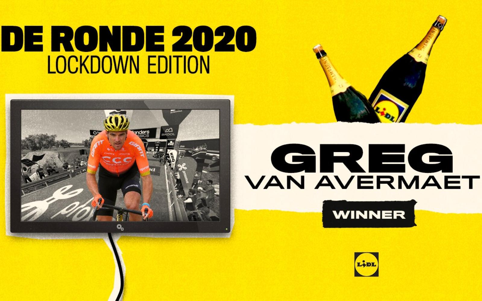 Greg Van Avermaet, ganador virtual del Tour de Flandes 2020