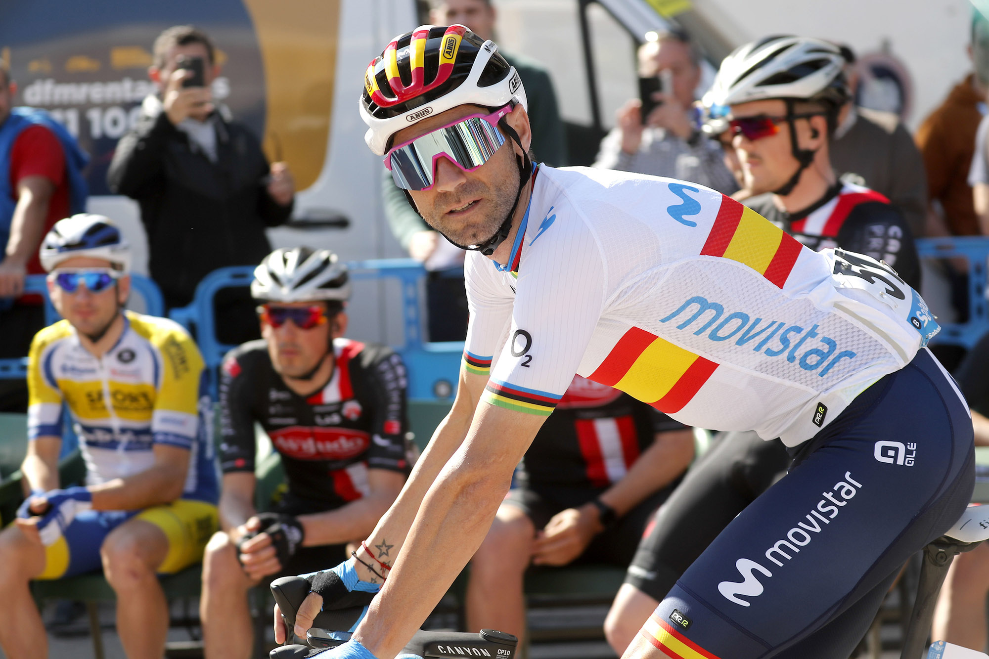 Alejandro Valverde. 2020 Vuelta a Murcia. Stage 1: Los Alc·zares - Caravaca de la Cruz. 14.02.2020.