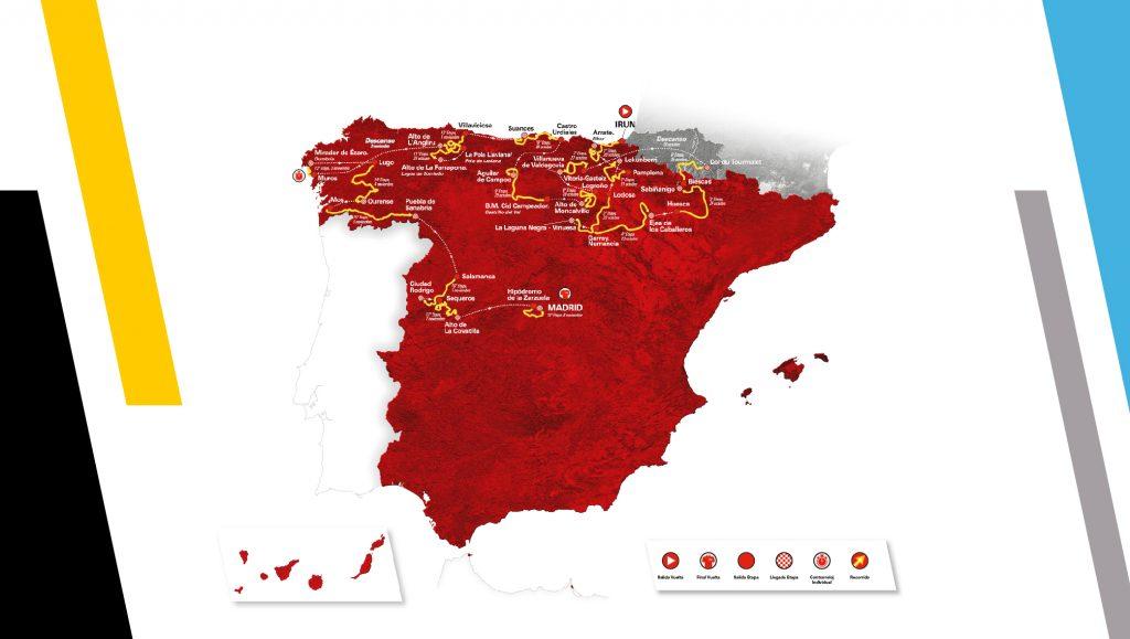 Mapa La Vuelta 2020