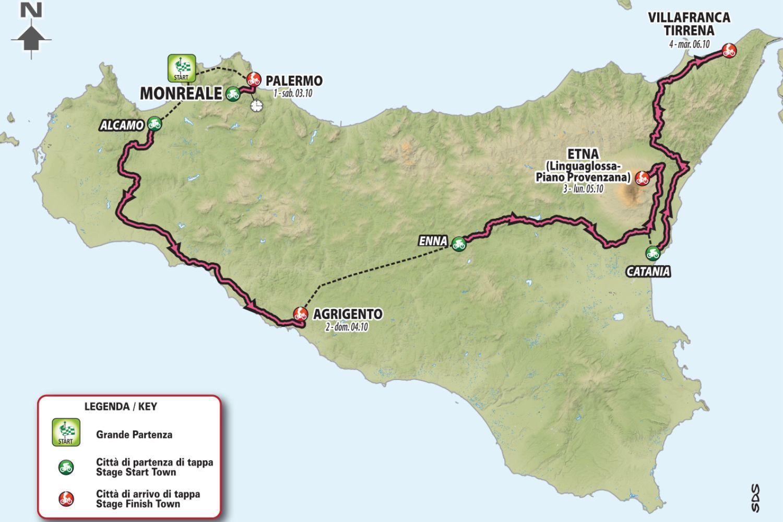 4 primeras etapas Giro de Italia 2020
