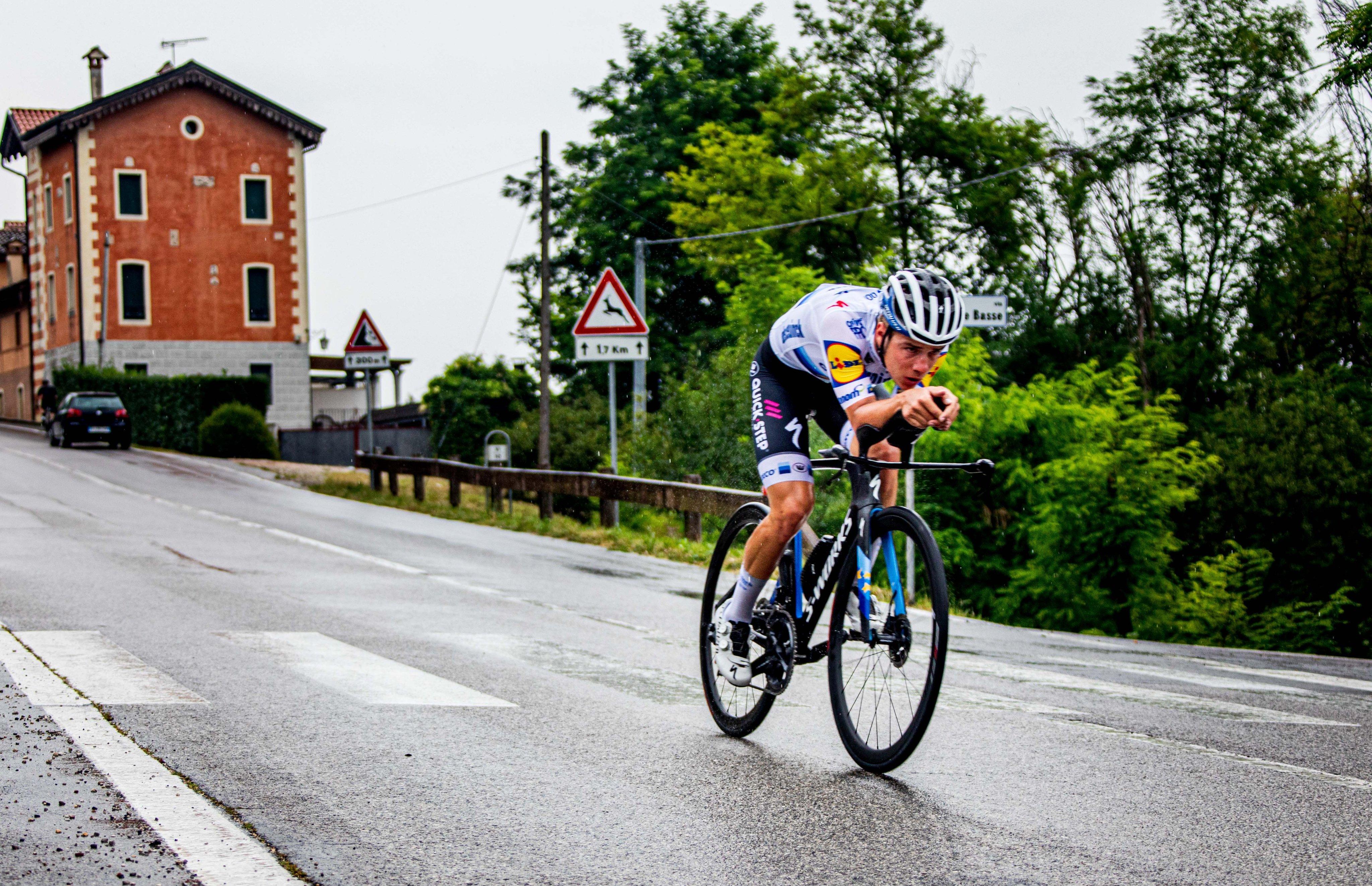 Remco Evenepoel reconoció dos etapas del Giro de Italia (Wout Beel).