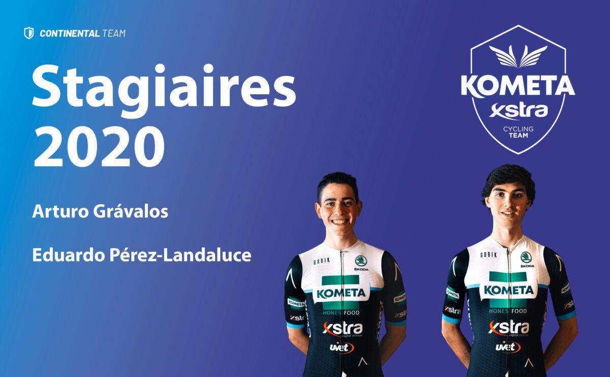 Arturo Grávalos y Eduardo Pérez-Landaluce acabarán la temporada con el Kometa Xstra.