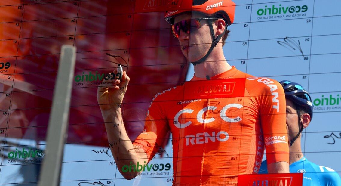 Nathan van Hooydonck deja el CCC y firma con el Jumbo Visma (Cor Vos).