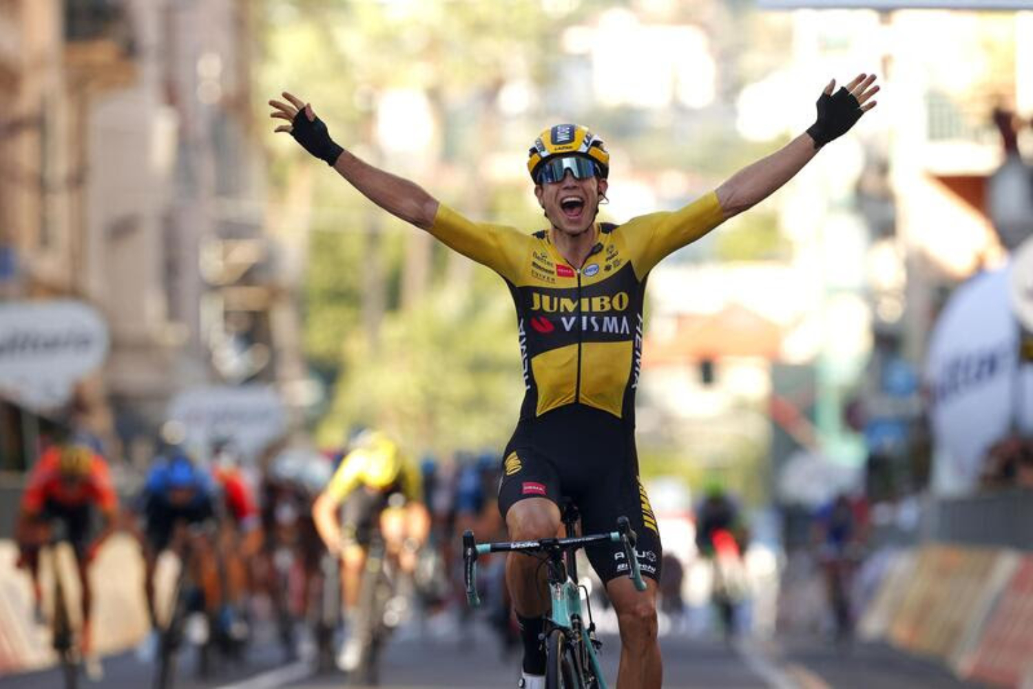 Milano - Italy - wielrennen - cycling - cyclisme - radsport - Wout Van Aert (BEL - Team Jumbo - Visma) pictured during Milano Sanremo 2020 - photo LB/RB/Cor Vos © 2020