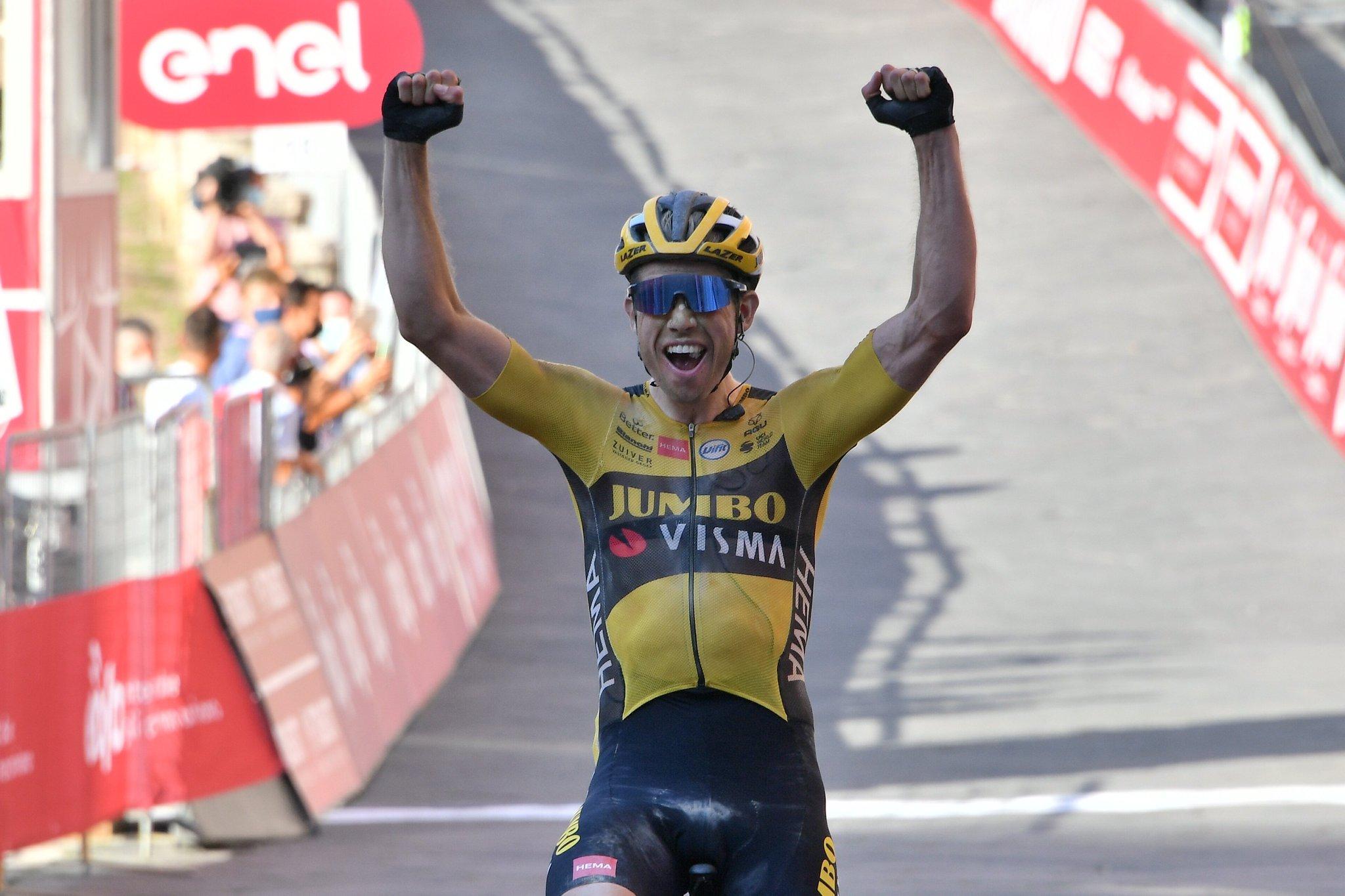Wout Van Aert, ganador de la Strade Bianche 2020