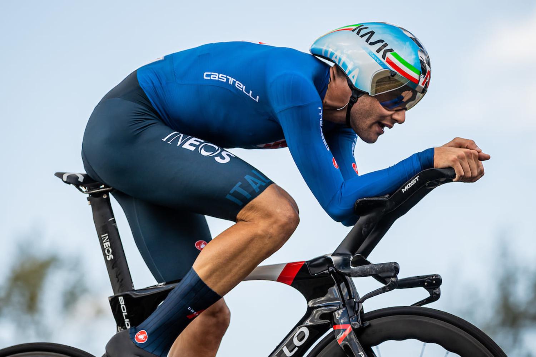Filippo Ganna vuela hasta el oro en la contrarreloj