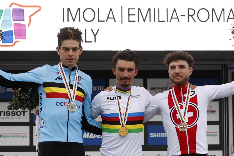 Podium Mundial Ciclismo 2020