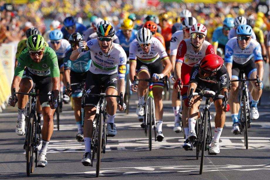 Sam Bennett ganó la décima etapa del Tour de Francia (LUCA BETTINI/BELGA MAG/AFP Getty Images).