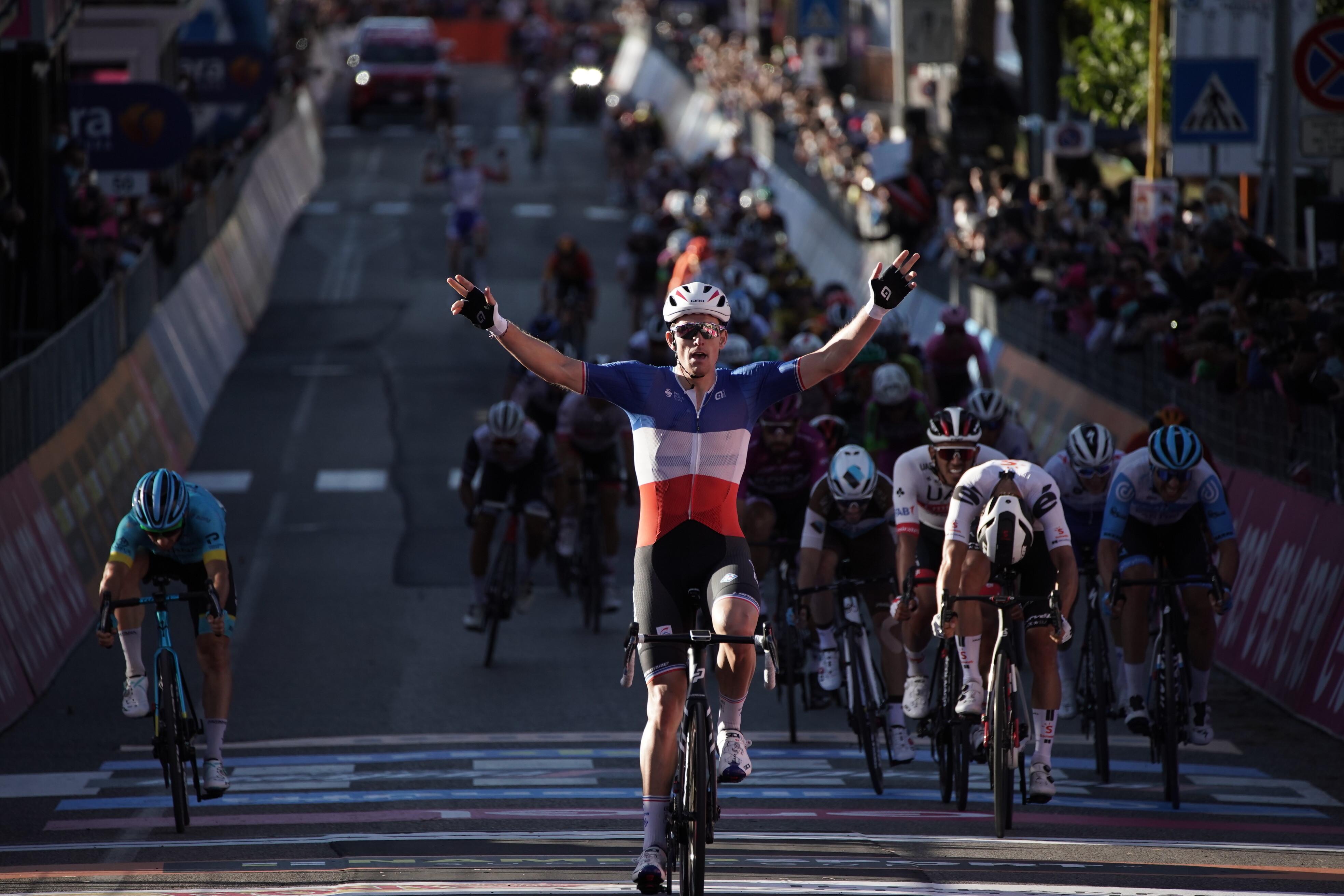 Arnaud Démare ganó la sexta etapa del Giro de Italia 2020 (LaPresse).