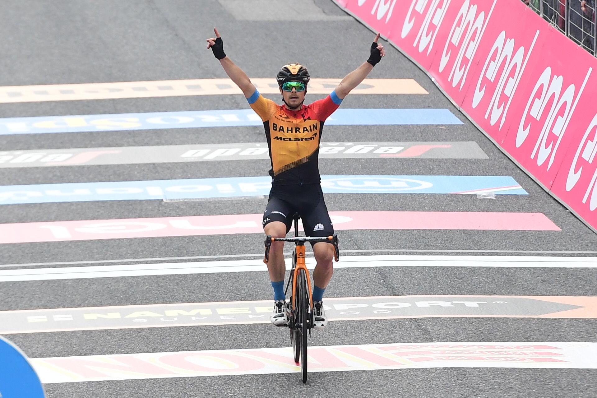 Jan Tratnik ganó al decimosexta etapa del Giro de Italia 2020 (LaPresse).