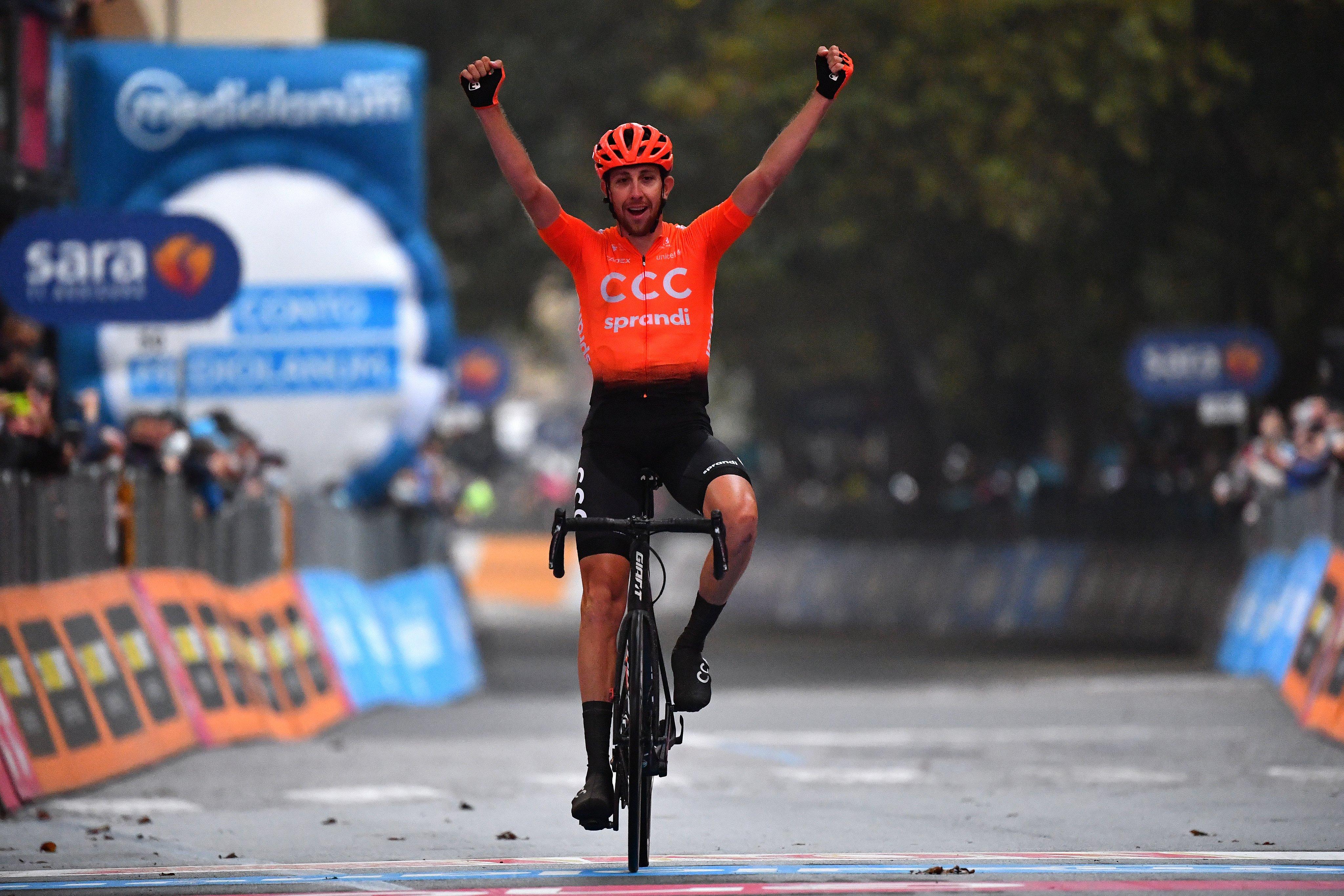 Josef Cerny ganó la decimonovena etapa del Giro de Italia 2020 (LaPresse).
