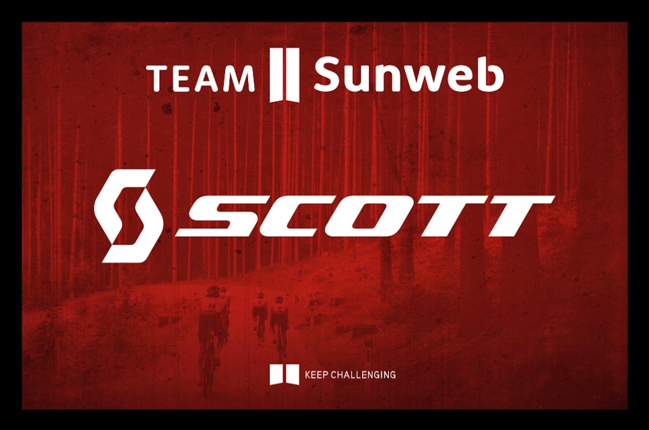 El Sunweb usará bicicletas Scott a partir de 2021.