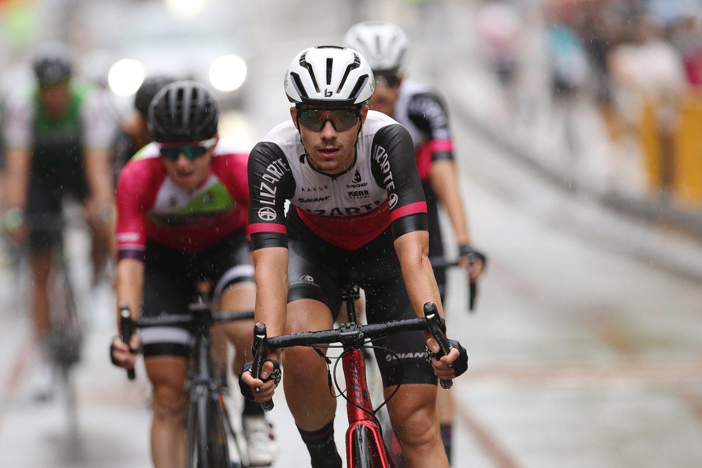 Álex Jaime, en la meta de la carrera de Oñati (6º) (Oskas Matxin).