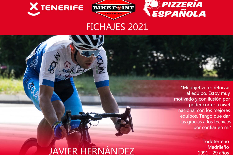 Javier Hernández, ciclista madrileño del Pelotón Tenerife