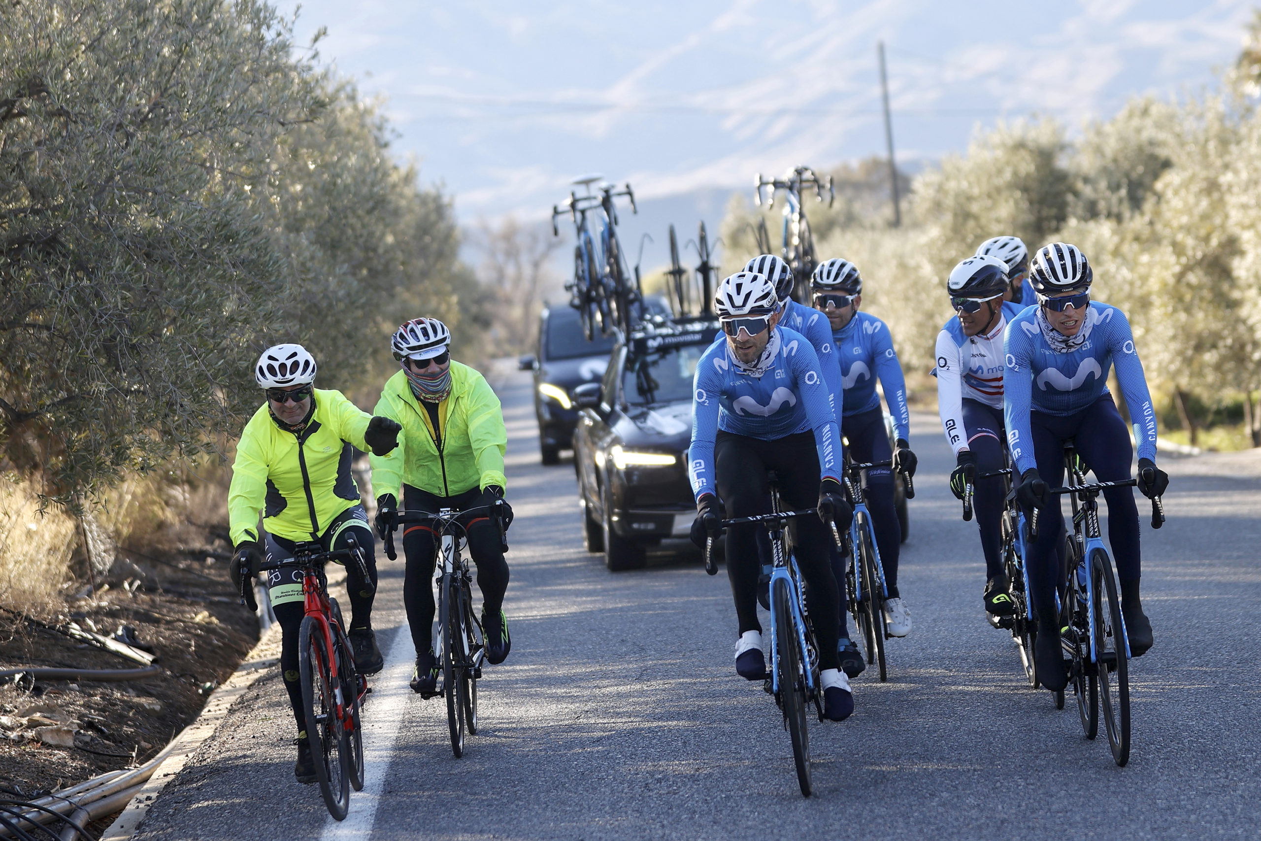 El Movistar Team se prepara para el inicio de temporada (Photo Gomez Sport.)