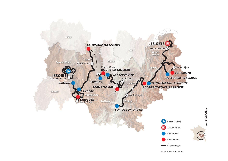 Dauphiné 2021 tendrá crono y cerrará con un tríptico en Los Alpes