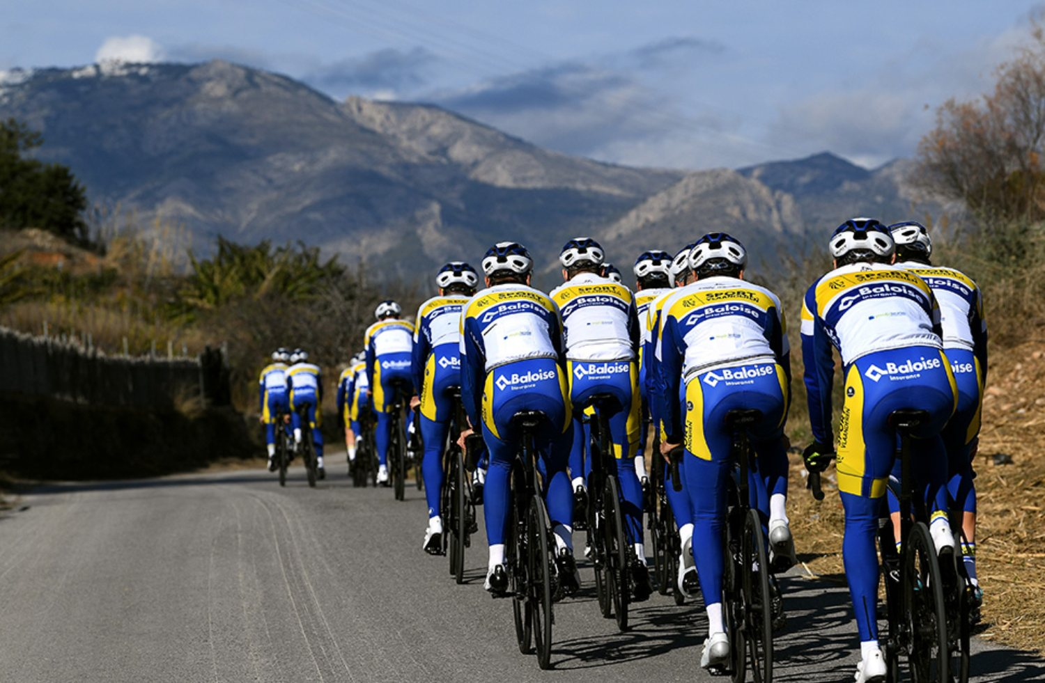 ALTEA, SPAIN - JANUARY 11: Riders and Team Sport Vlaanderen - Baloise / Jersey / Detail view / during the Team Sport Vlaanderen - Baloise 2021 - Training Camp / @TeamSVB / on January 11, 2021 in Altea, Spain. (Photo by Tim de Waele/Getty Images)