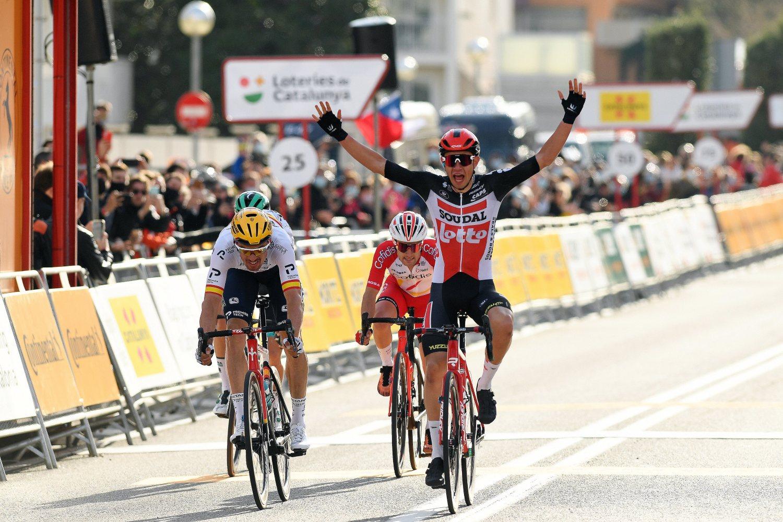 Andreas Kron ganó la primera etapa de la Volta a Cataluña 2021 (Getty Images).